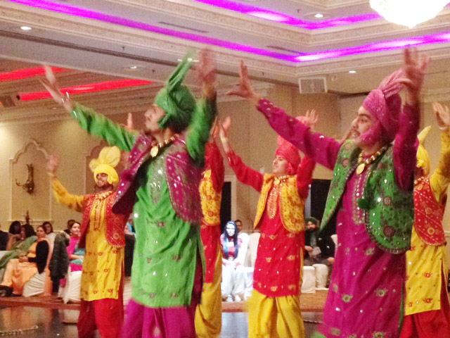 Dozens of Canadian youth connected to their roots with their display of a high-tempo bhangra dance. Bhangra is a traditional folk dance of the state of Punjab in India.
