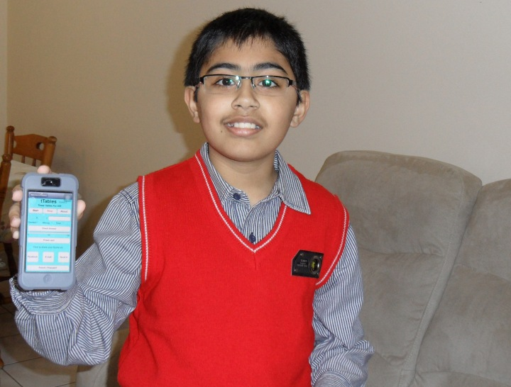 Tanmay Bakshi, 10, has successfully developed an app for Apple. His aptitude for computing and coding has made him a celebrity in Canada and abroad. Photo by Radhika Panjwani