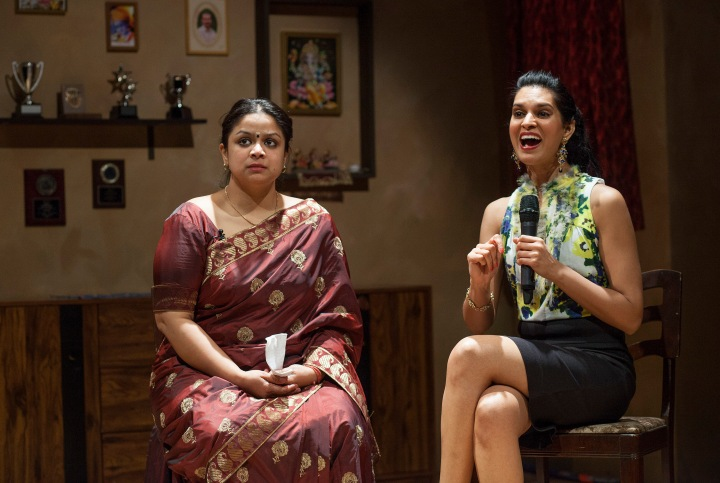Anusree Roy as Malini and Asha Vijayasingham as Usha in Free Outgoing. The play ran at Factory Theatre recently and exposes the sexual hypocrisy of society.