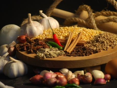 Kerala cuisine is redolent with spices such as cardamom, peppercorn and coconut. Image courtesy Zastavki.com