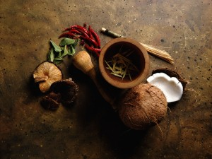 Kerala's cuisine boasts of staples such as coconut and fresh aromatic spices such as peppercorn, cardamom and cinnamon.