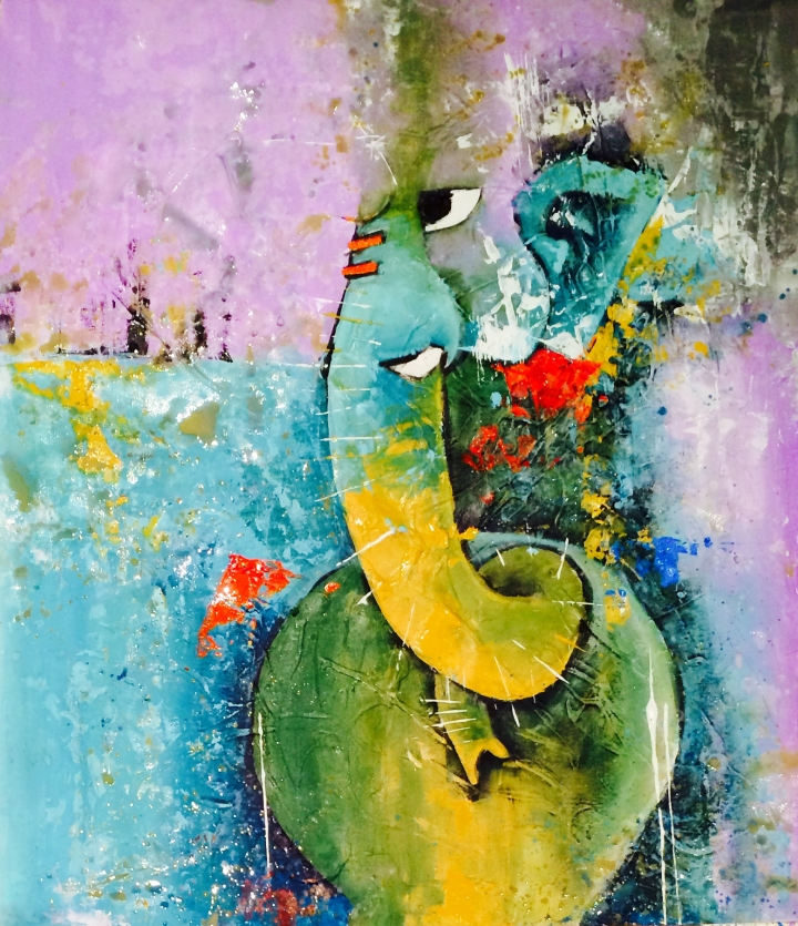 Vishal Misra, a transplant from Mumbai, has a deep connection with Lord Ganesh. His interpretation of the Elephant God elevates the piece. Vishal, a well-recognized artist commands four-figure numbers for his artworks and is well-known in Toronto. Supplied photo.