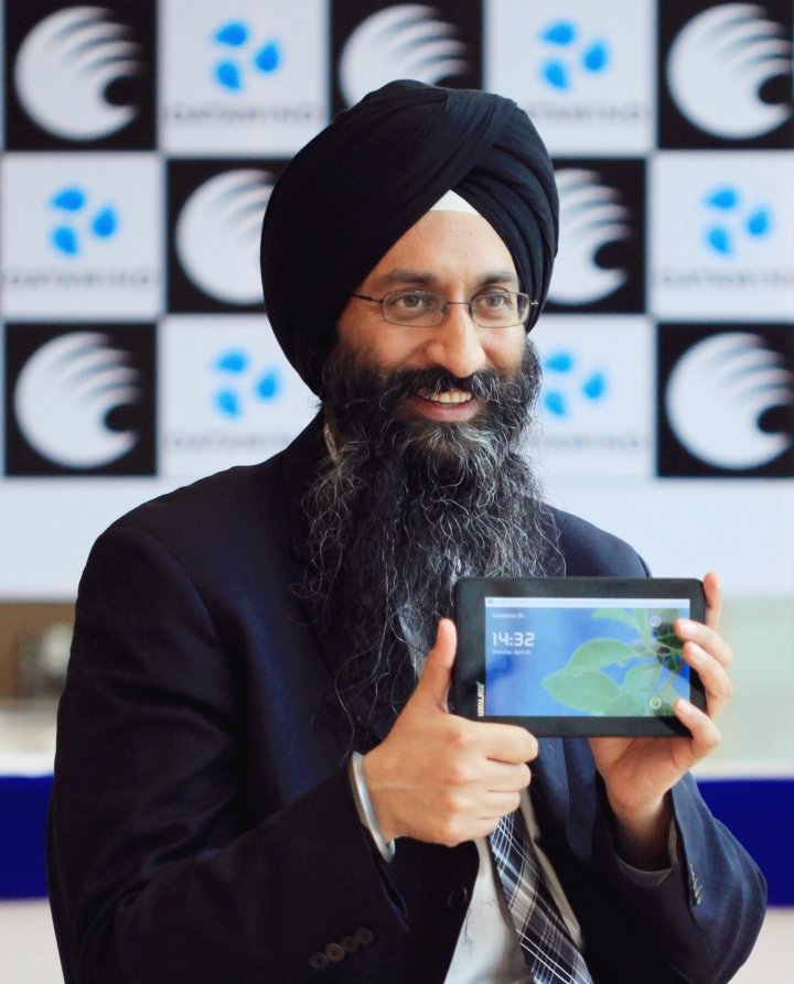 Suneet Tuli, CEO, Datawind, maker of the world's cheapest tablet/phablet says by seeking out alternate sources of revenue from content, ads and apps, his company is able to sell the devices for less than $40 (CAN).
