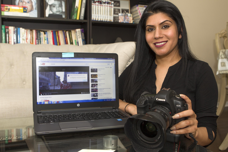 Rakhi Mutta, a filmmaker/photographer has been enjoying the spotlight after her web series Anarkali proved to be a huge hit. Photo by Bryon Johnson/The Brampton Guardian