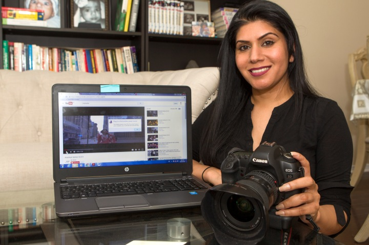 Rakhi Mutta, a filmmaker/photographer has been enjoying the spotlight after her web series Anarkali proved to be a huge hit. Photo by Bryon Johnson/The Brampton Guardian