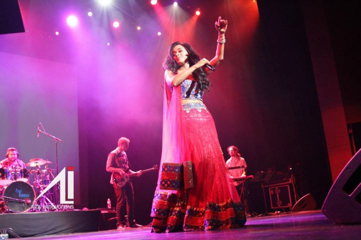 Toronto singer Shweta Subram performing to a crowd