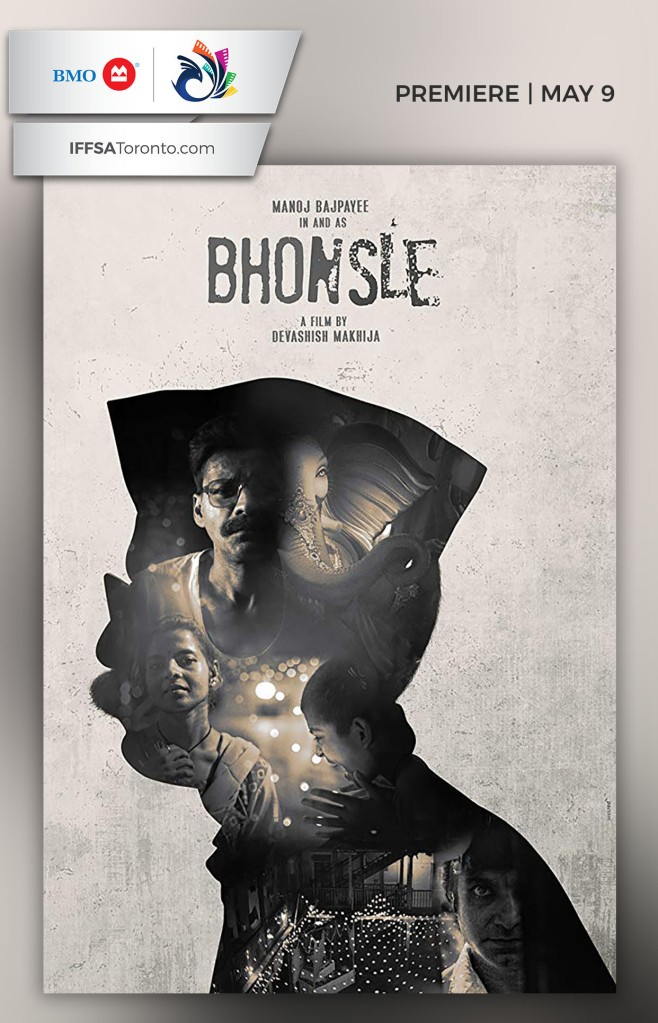 Poster of Bhonsle, a Hindi film showcasing the issue of migrants